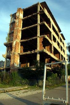 Edificio en ruinas en Mostar