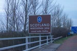 Ahora ya estamos en Escocia!