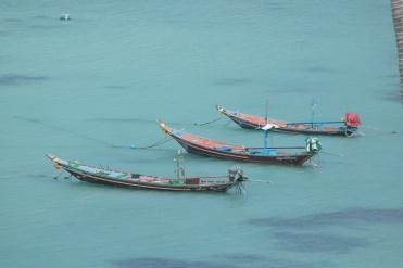 Vistas desde lo alto de la playa Saan Jao