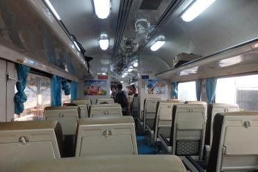 Interior tren a Chiang Mai