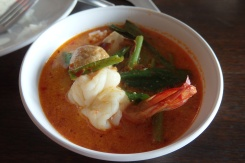 Tom Yum de langostinos