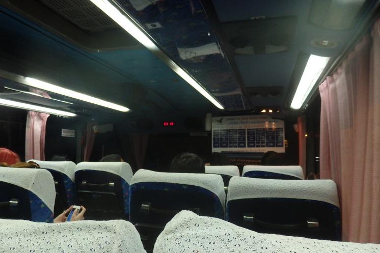 Autobus para el puerto de Chumphon