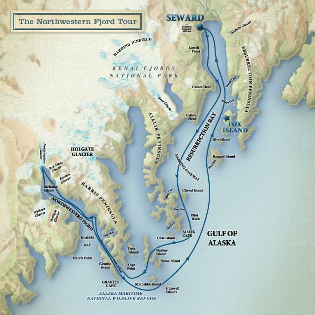 Kenai Fjords ruta