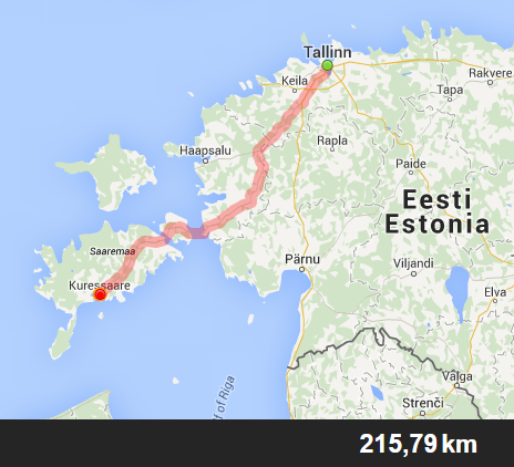 ruta coche Saaremaa